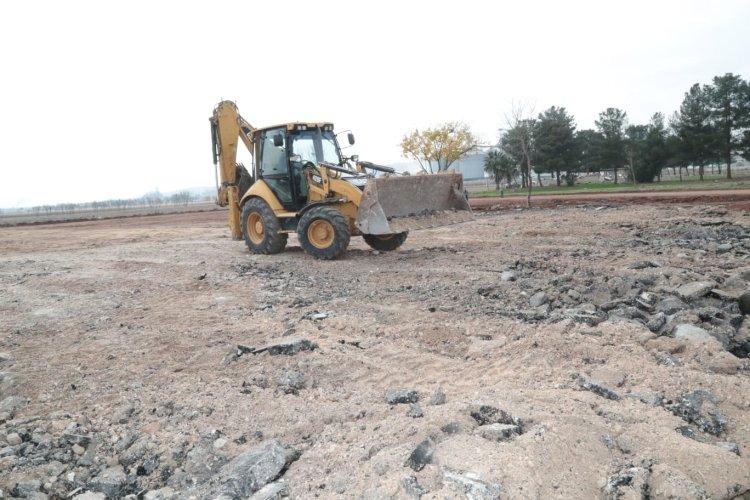 Eyyübiye belediyesi araç garaj parkı çalışmaları başladı.